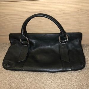 👜Express Black Genuine Leather satchel used once